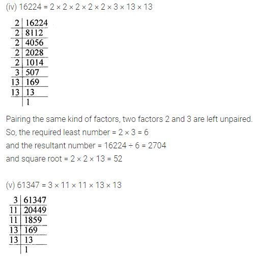 ML Aggarwal Class 8 Solutions for ICSE Maths Chapter 3 Squares and Square Roots Ex 3.3 Q5.2