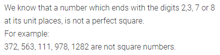 ML Aggarwal Class 8 Solutions for ICSE Maths Chapter 3 Squares and Square Roots Ex 3.2 Q1