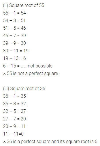 ML Aggarwal Class 8 Solutions for ICSE Maths Chapter 3 Squares and Square Roots Ex 3.3 Q1.1