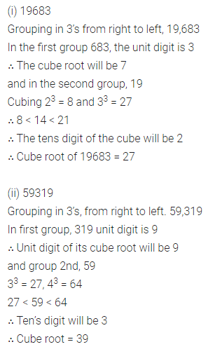 ICSE Mathematics Class 8 Solutions Chapter 4 Cubes and Cube Roots Ex 4.2 Q2