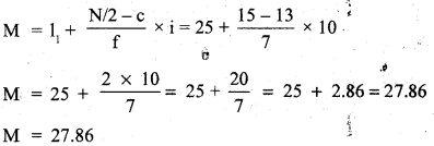 RBSE Solutions for Class 11 Economics Chapter 9 Median 44