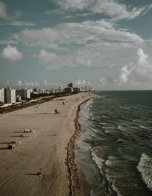 aerial shot beach
