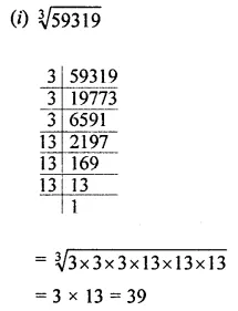 ICSE Mathematics Class 8 Solutions Chapter 4 Cubes and Cube Roots Check Your Progress Q3