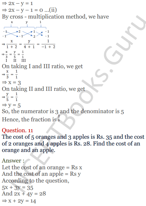 KC Sinha Maths Solutions Class 10 Chapter 3 Pair of Linear Equations in Two Variables Ex 3.4 - 25