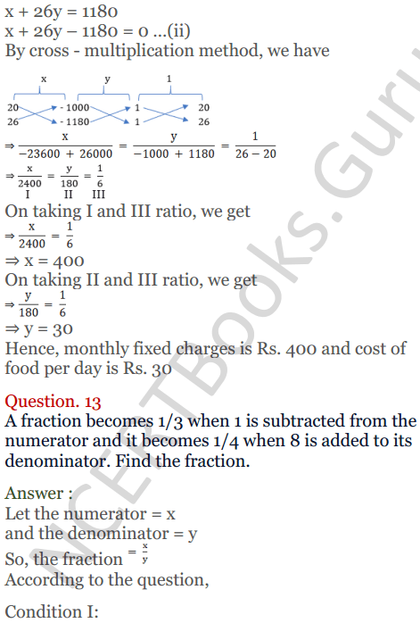 KC Sinha Maths Solutions Class 10 Chapter 3 Pair of Linear Equations in Two Variables Ex 3.4 - 27