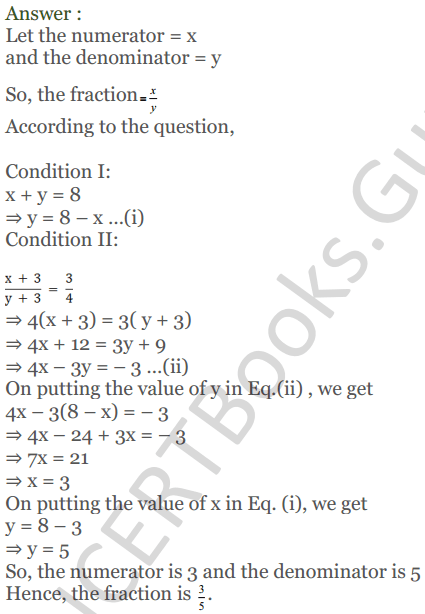 KC Sinha Maths Solutions Class 10 Chapter 3 Pair of Linear Equations in Two Variables Ex 3.5 - 26