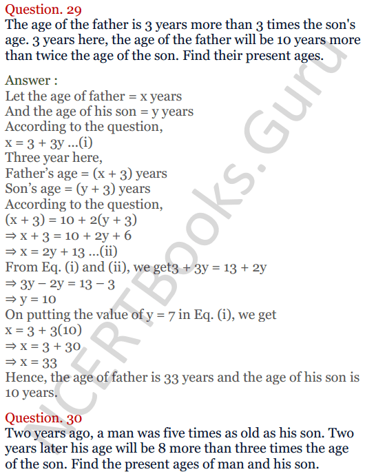KC Sinha Maths Solutions Class 10 Chapter 3 Pair of Linear Equations in Two Variables Ex 3.5 - 28