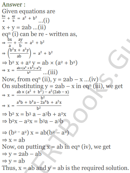 KC Sinha Maths Solutions Class 10 Chapter 3 Pair of Linear Equations in Two Variables Ex 3.2 - 9