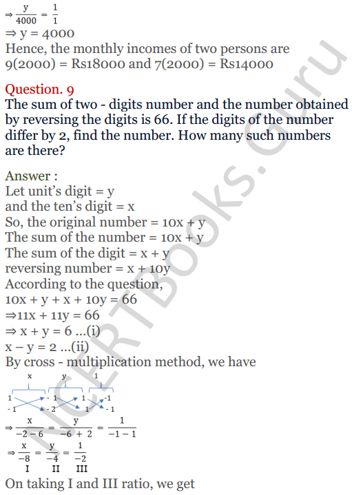 KC Sinha Maths Solutions Class 10 Chapter 3 Pair of Linear Equations in Two Variables Ex 3.4 - 23