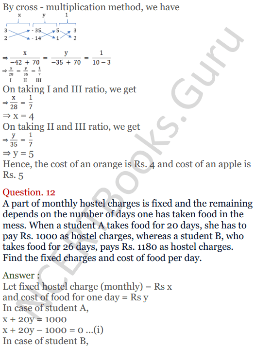 KC Sinha Maths Solutions Class 10 Chapter 3 Pair of Linear Equations in Two Variables Ex 3.4 - 26