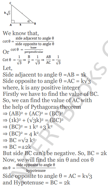 KC Sinha Maths Solutions Class 10 Chapter 4 Trigonometric Ratios and Identities Ex 4.1 - 74