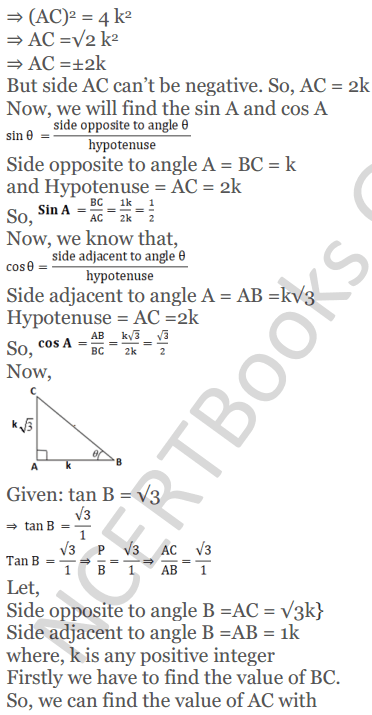 KC Sinha Maths Solutions Class 10 Chapter 4 Trigonometric Ratios and Identities Ex 4.1 - 93