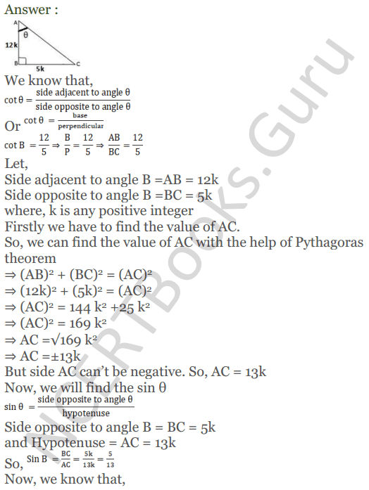 KC Sinha Maths Solutions Class 10 Chapter 4 Trigonometric Ratios and Identities Ex 4.1 - 111