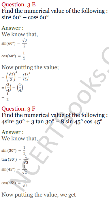 KC Sinha Maths Solutions Class 10 Chapter 4 Trigonometric Ratios and Identities Ex 4.2 - 7