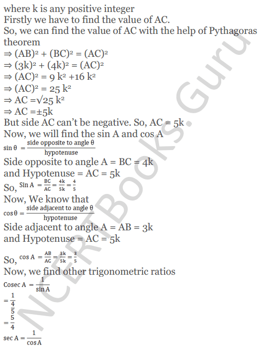 KC Sinha Maths Solutions Class 10 Chapter 4 Trigonometric Ratios and Identities Ex 4.1 - 26