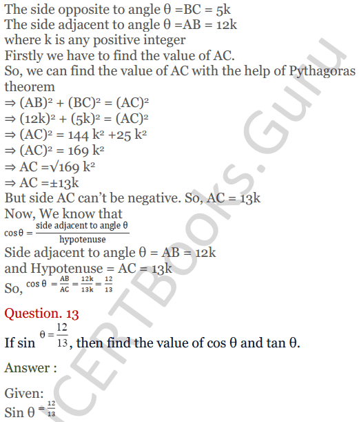 KC Sinha Maths Solutions Class 10 Chapter 4 Trigonometric Ratios and Identities Ex 4.1 - 36