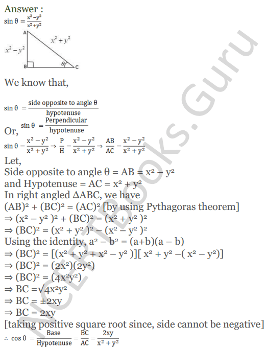 KC Sinha Maths Solutions Class 10 Chapter 4 Trigonometric Ratios and Identities Ex 4.1 - 48