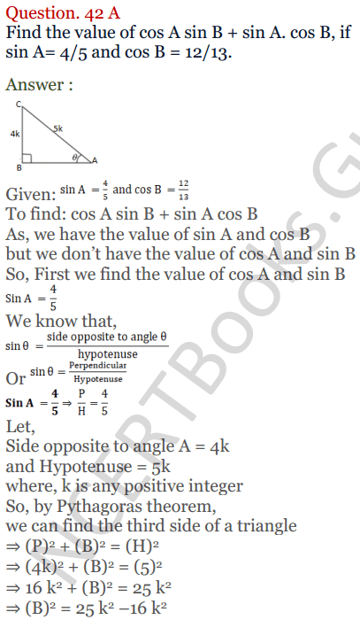 KC Sinha Maths Solutions Class 10 Chapter 4 Trigonometric Ratios and Identities Ex 4.1 - 87