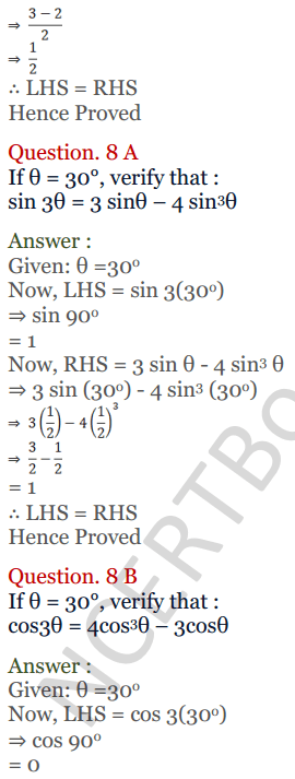 KC Sinha Maths Solutions Class 10 Chapter 4 Trigonometric Ratios and Identities Ex 4.2 - 35