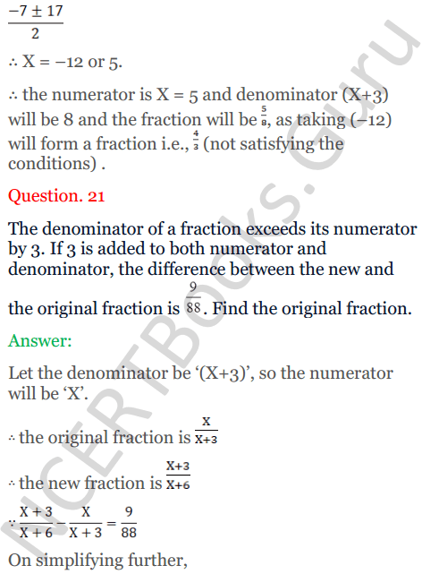 KC Sinha Maths Solutions Class 10 Chapter 7 Quadratic Equations Ex 7.5 - 31