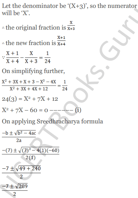 KC Sinha Maths Solutions Class 10 Chapter 7 Quadratic Equations Ex 7.5 - 30