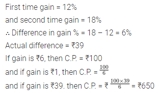 ML Aggarwal Class 8 Solutions for ICSE Maths Chapter 7 Percentage Ex 7.2 Q22
