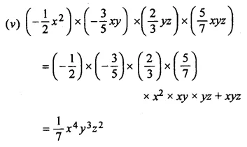 ML Aggarwal Class 8 Solutions for ICSE Maths Chapter 10 Algebraic Expressions and Identities Ex 10.2 Q1.1