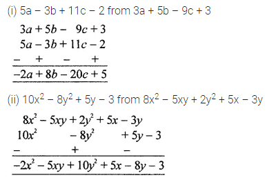 ICSE Mathematics Class 8 Solutions Chapter 10 Algebraic Expressions and Identities Check Your Progress Q2