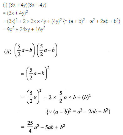ML Aggarwal Class 8 Solutions for ICSE Maths Chapter 10 Algebraic Expressions and Identities Check Your Progress Q10