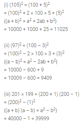ML Aggarwal Class 8 Solutions for ICSE Maths Chapter 10 Algebraic Expressions and Identities Check Your Progress Q11