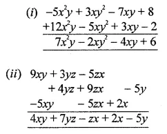 ML Aggarwal Class 8 Solutions for ICSE Maths Chapter 10 Algebraic Expressions and Identities Check Your Progress Q1
