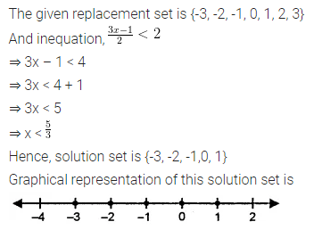 ML Aggarwal Class 8 Solutions for ICSE Maths Chapter 12 Linear Equations and Inequalities in one Variable Ex 12.3 Q9