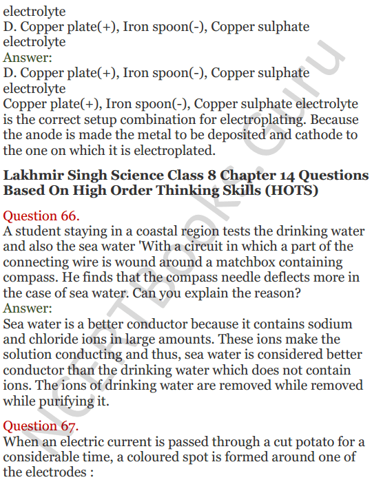 Lakhmir Singh Science Class 8 Solutions Chapter 14 Chemical Effects of Electric Current - 26