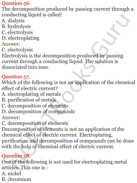 Lakhmir Singh Science Class 8 Solutions Chapter 14 Chemical Effects of Electric Current - 22