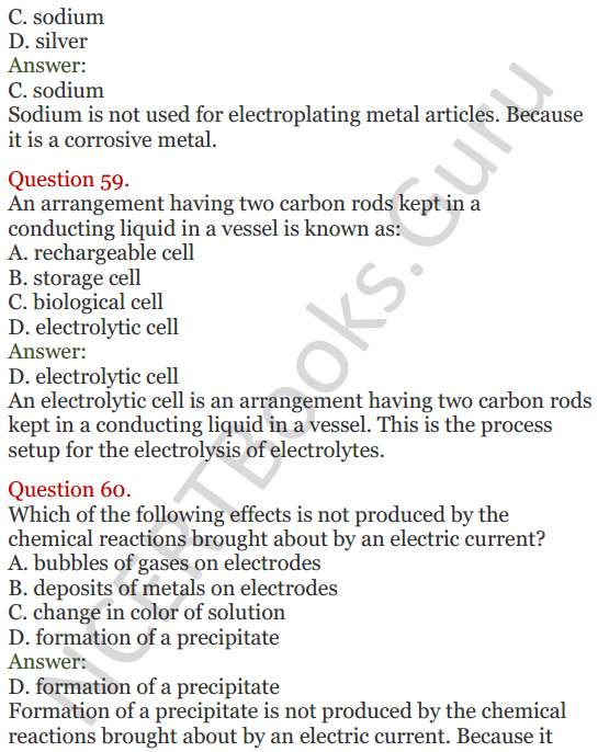 Lakhmir Singh Science Class 8 Solutions Chapter 14 Chemical Effects of Electric Current - 23