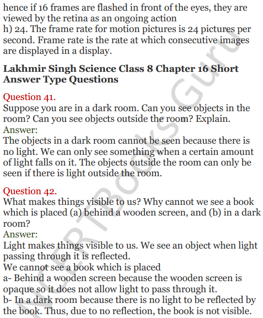 Lakhmir Singh Science Class 8 Solutions Chapter 16 Light - 14