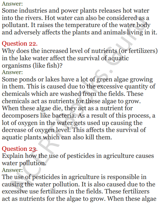Lakhmir Singh Science Class 8 Solutions Chapter 18 Pollution of Air and Water - 11