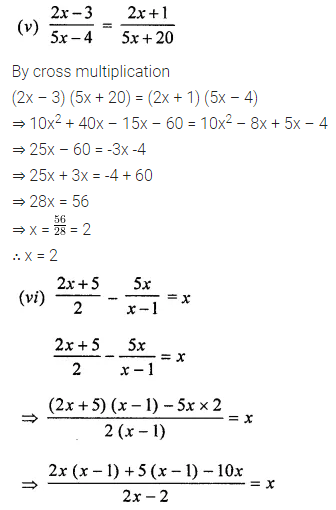 ML Aggarwal Class 8 Solutions for ICSE Maths Chapter 12 Linear Equations and Inequalities in one Variable Check Your Progress Q1.3