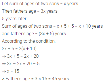 ML Aggarwal Class 8 Solutions for ICSE Maths Chapter 12 Linear Equations and Inequalities in one Variable Check Your Progress Q7