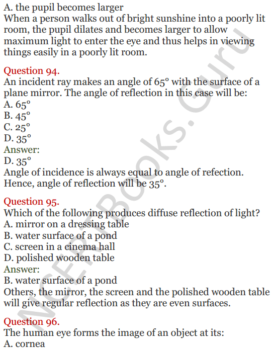 Lakhmir Singh Science Class 8 Solutions Chapter 16 Light - 40