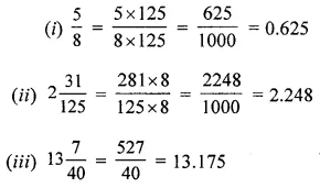 ML Aggarwal Class 6 Maths Solution Chapter 7 Decimals Check Your Process