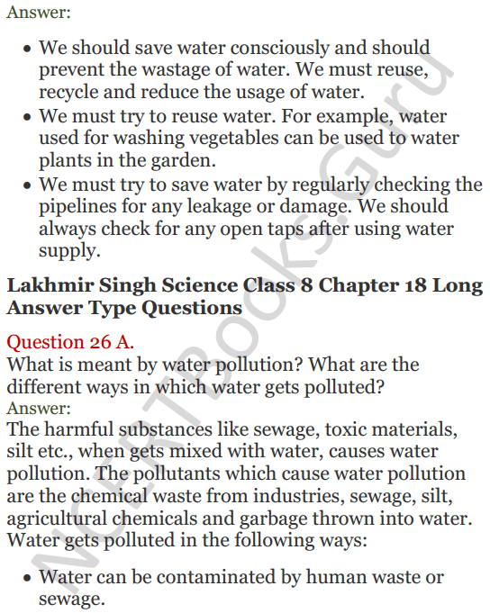 Lakhmir Singh Science Class 8 Solutions Chapter 18 Pollution of Air and Water - 14