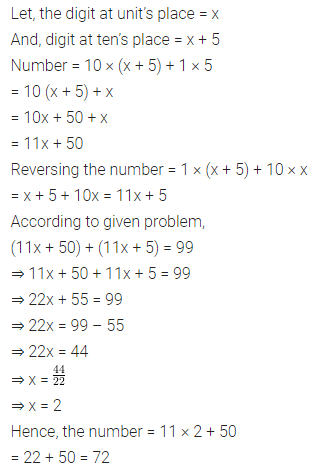 ML Aggarwal Class 8 Solutions for ICSE Maths Chapter 12 Linear Equations and Inequalities in one Variable Check Your Progress Q9