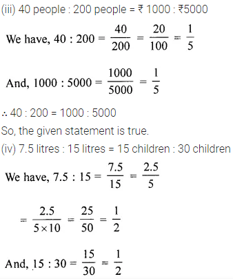 ML Aggarwal Maths Book Class 6 Chapter 8 Ratio and Proportion Ex 8.2