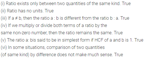 Class 6 ML Aggarwal Chapter 8 Ratio and Proportion Objective Type Questions