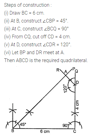 ML Aggarwal Class 8 Solutions for ICSE Maths Chapter 14 Constructions of Quadrilaterals Ex 14.1 Q5