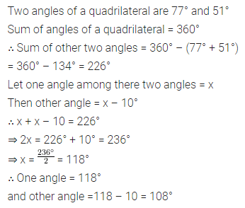 ICSE Understanding Mathematics Class 8 Solutions Chapter 13 Understanding Quadrilaterals Check Your Progress Q2