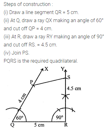 Maths Questions for Class 8 ICSE With Answers Chapter 14 Constructions of Quadrilaterals Ex 14.1 Q8