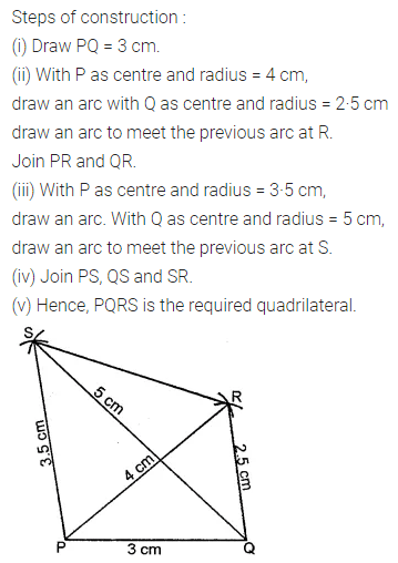Maths Questions for Class 8 ICSE With Answers Chapter 14 Constructions of Quadrilaterals Ex 14.1 Q3