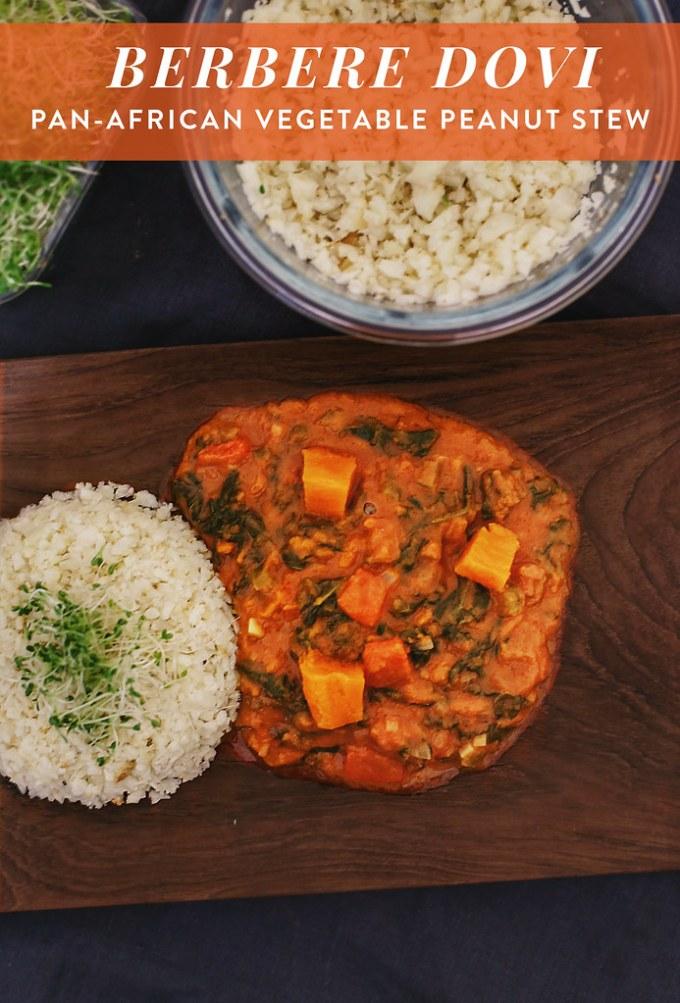 Berbere Dovi (Pan-African Spicy Vegetable Peanut Stew)